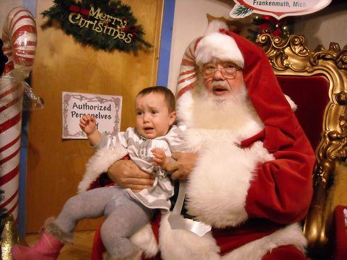 Annabel and santa