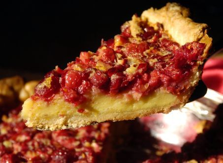 Cranberry chess pie